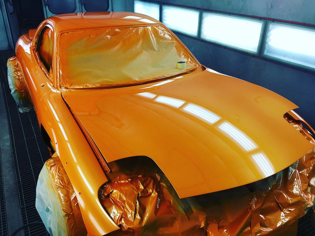 rx7 в покрасочной камере